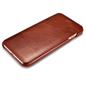 Image 2 - Icarer couro genuíno de luxo casos originais do telefone móvel para apple iphone 7 8/plus borda completa fechado proteção da aleta caso capa