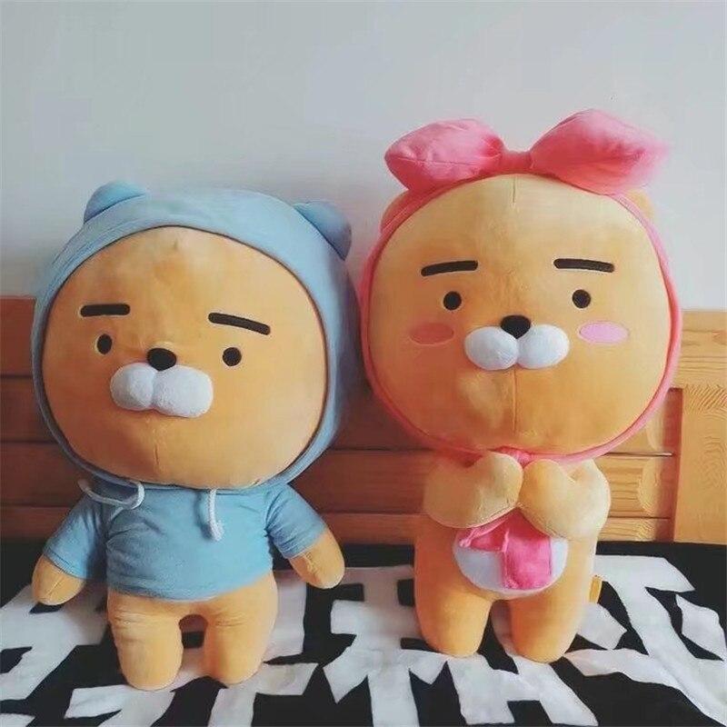3bfbdb0e855 Korea kakao friends blue lion plush toy christmas lion Ryan doll friend  kidz girl boy gifts