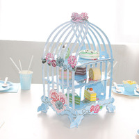 Birdcage Cupcake Cake Stand Candy Sweets For Kids Birthday Decoration Cupcake Holder Sugarcrafts Display For Wedding