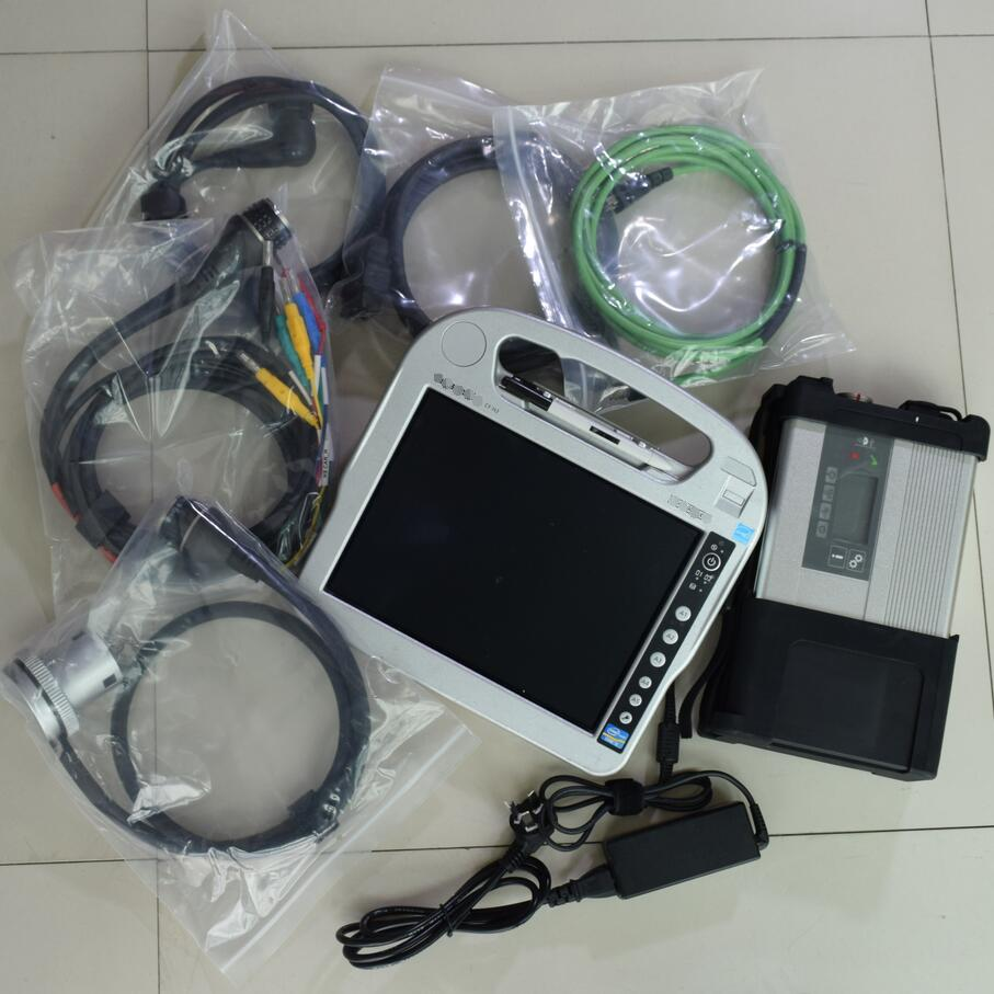 super mb star c5 software 2018.05 win7 ssd 240gb with laptop cf-h2 touch screen i5 4g ready to use for 12v 24v best