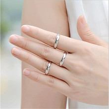 купить Sitaicery Latest Fortunately Silver Couple Rings Polished Stainless Steel Ring Convention Jewelry Wedding Ring Valentine Gift дешево