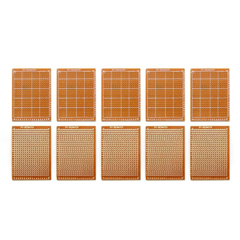 5x7cm 57 Double Side Prototype Pcb Diy Universal Printed Circuit 50 Panel Solder 50x70 Board 10pcs Paper Copper Experiment Matrix Brand