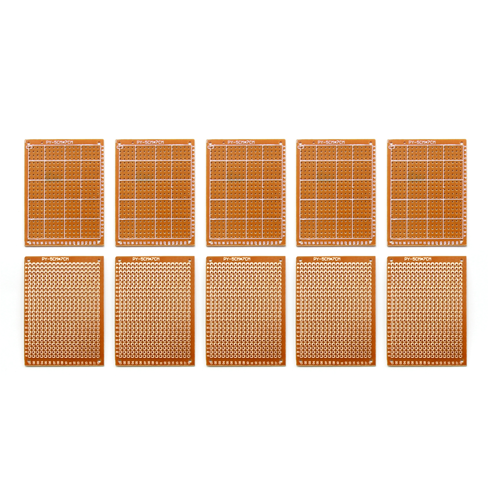 10pcs Prototype Paper Copper Pcb Universal Experiment Matrix Circuit Diy Board 5x7cm Brand In Single Sided From Electronic Components Supplies On