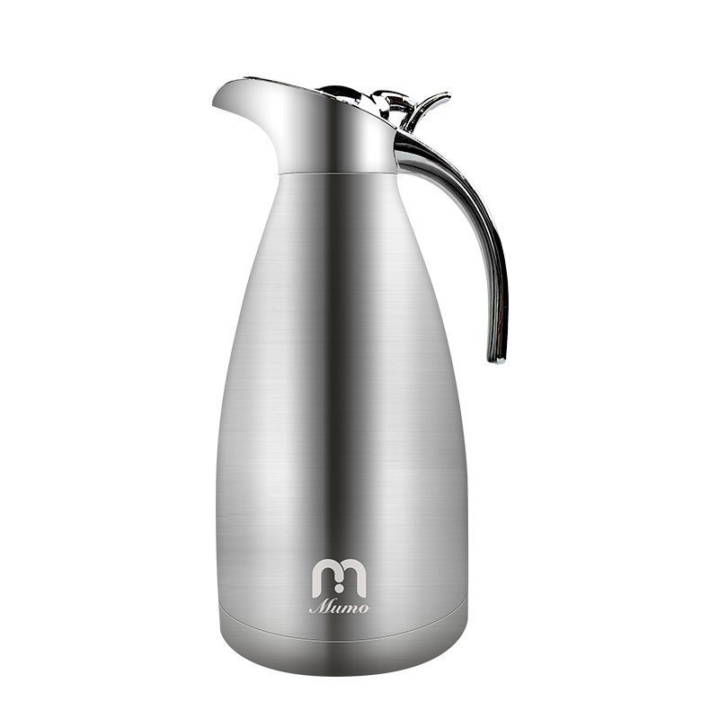Holding Pot MUMO Homeuse 304 Stainless Steel Vacuum Cup Teapot Vacuum cold-keeping and heat-keeping kettle 2L Coffee pot stainless steel vacuum coffee insulation pot