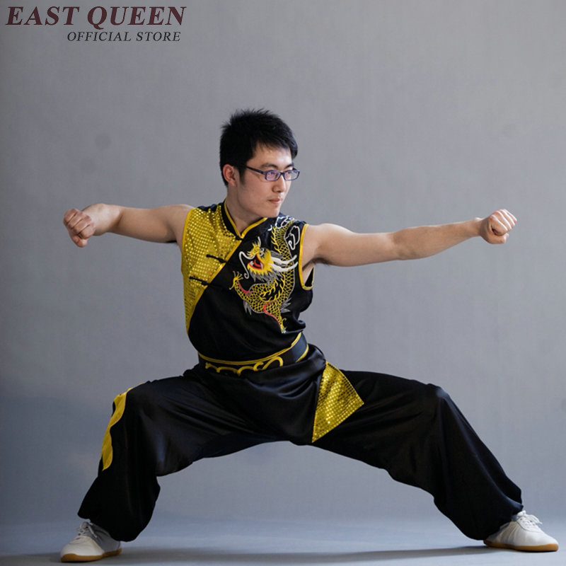 Оптовая продажа китайский дракон традиционный костюм Костюм Ушу без рукавов ушу Одежда для кунг-фу для человека S-6XL AA2537 Q