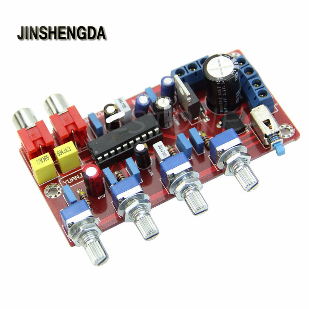 JINSHENGDA Amplificatore per 1000 UF/25 V Pro Tono LM1036 Lussuoso Scheda di Controllo del Volume Completato e Testato