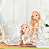Fashion Small Angel Decoration Car On Desktop Gift Home Decoration Home Garden Home Decor Decoration Craft