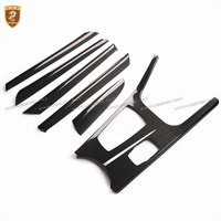 Carbon Fiber Interior Trim Dashboard Control Door Panel Covers Add on Style For BMW X3 X4 2011 2012 2013 2014 2015 2016 2017