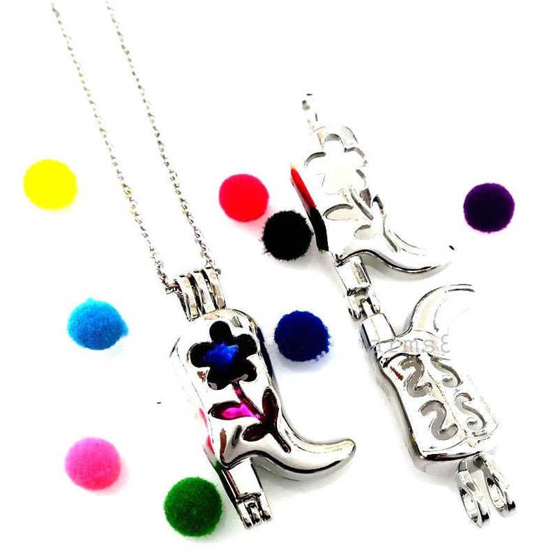 Yüksek Topuk Çizmeler Boncuk Kafes Inci Kafes Madalyon Paslanmaz Çelik Gümüş Zincir Kolye çekici gerdanlık kolye Kadınlar Takı Hediyeler için