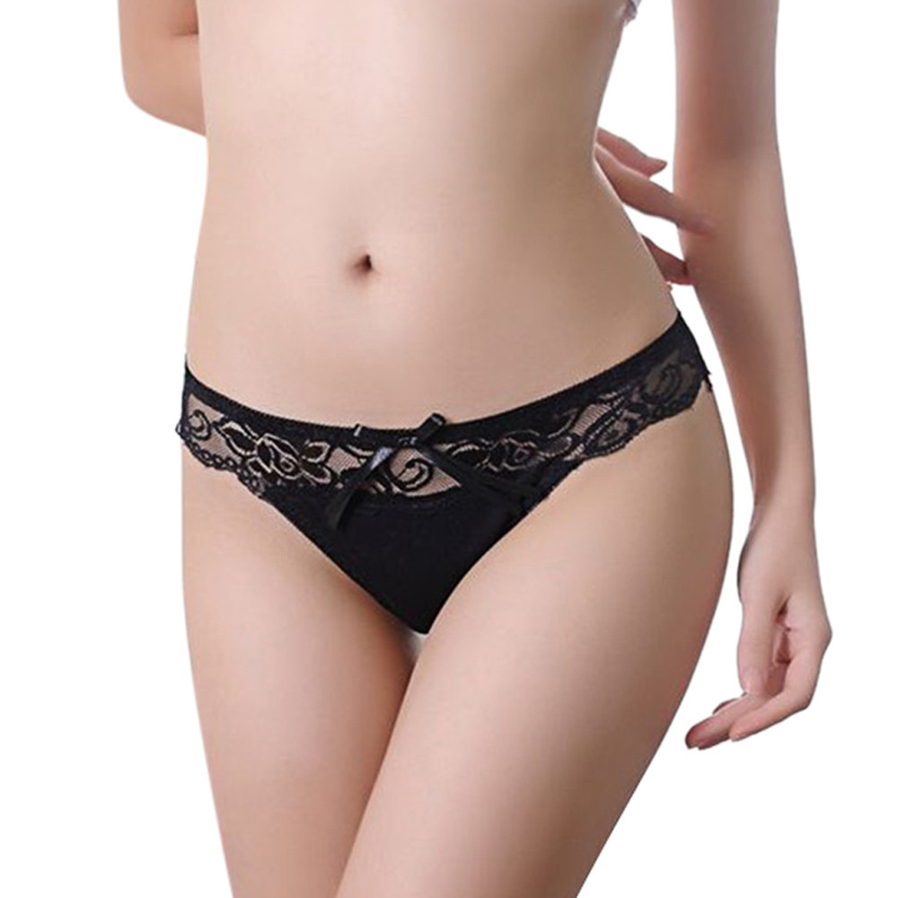 Buy Feitong Women Sexy Lace Panties Laides Low Waist Cotton Briefs Underwear G-Strings Thongs Tangas Exotic Lingeries Intimates 2017