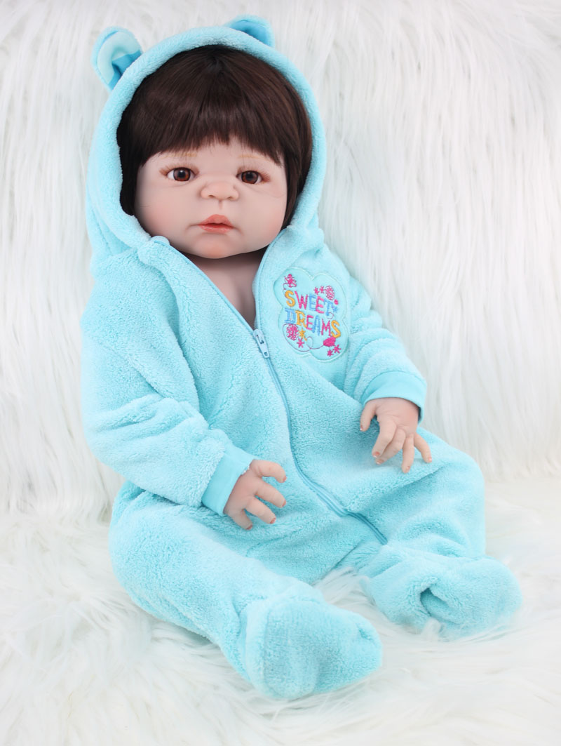 55cm Full Body Silicone Reborn Boy Baby Doll Toys Newborn Babies ...