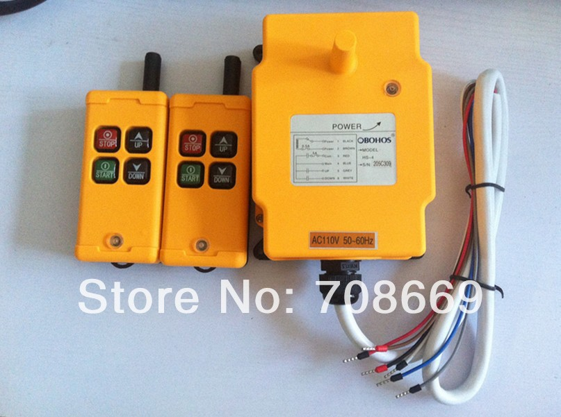 HS-4 2 Transmitters 1 Motion 1 Speed Hoist Crane Truck Remote Control System