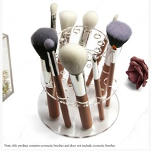 Transparent Makeup Brush Display Stand Acrylic Double Layere