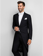 men suits for wedding tuxedos long tail groom wear 2019 tailor suit one button