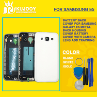 New E5 Full Housing For Samsung Galaxy Grand DUOS SM E500F E500H Middle Frame Plate Battery