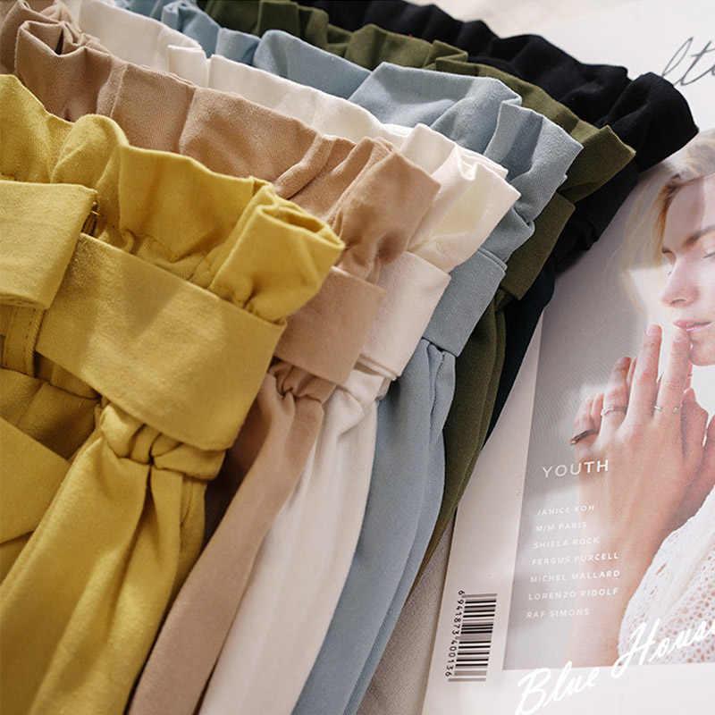 Spódnice damskie Midi kolano długość koreański elegancki guzik spódnica z wysokim stanem kobiet plisowana spódnica szkolna