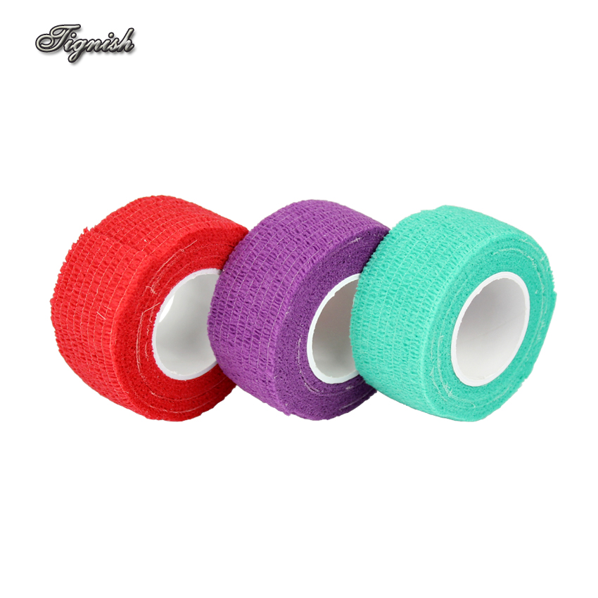 Tignish 1Pcs Self Adhesive Non-Woven Fabric Elastic Nail Tapes Accessory Sports Finger Bandage Protection Wrap Nail Art Tool