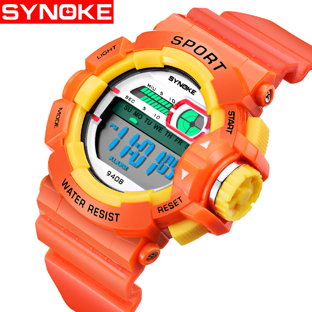Synoke Childrens Waterproof Fall-proof Watch Primary School Students New Year Gift Electronic Watch Age Boys Girls Kids Watch To Produce An Effect Toward Clear Vision Watches