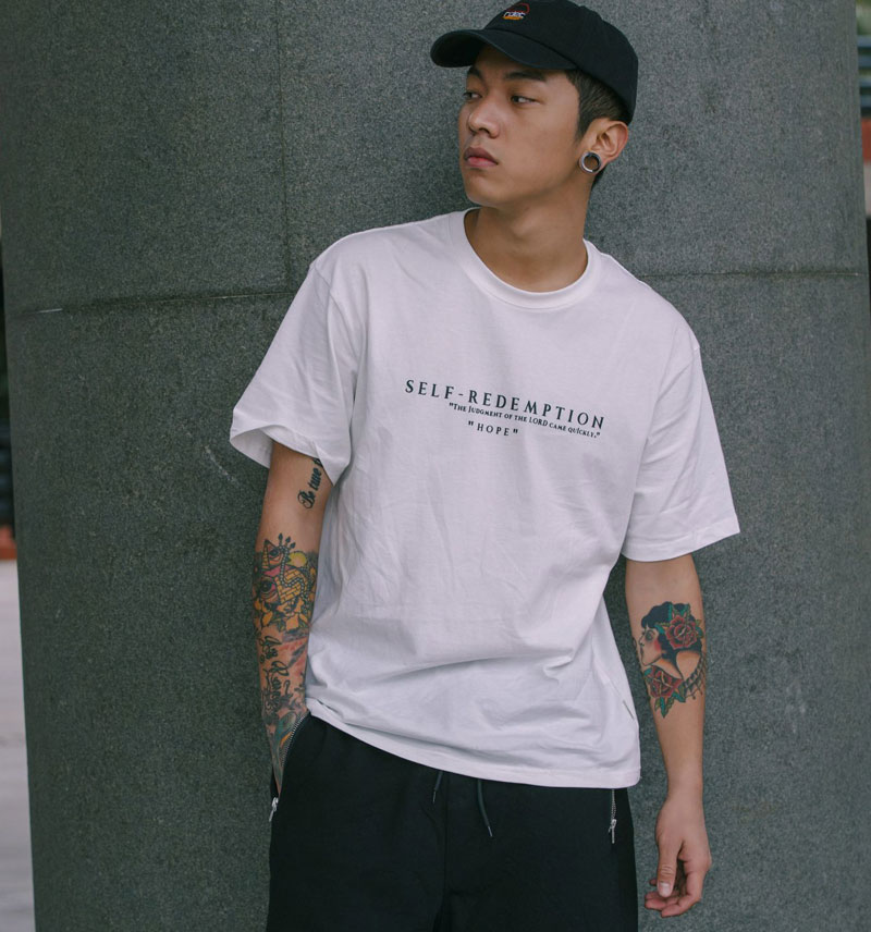 Self Redemption Patchwork Printed T-Shirt 1