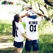 Посмотрите сын отец соответствующие наряды дочь семья мать коротким baby футболки