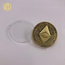 CO012 позолоченный эфириум классическая монета памятная монета художественная коллекция подарок физическая имитация из металла вечерние украшения для дома
