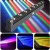 8X LOT 8pcs 10W 4IN1 CREE RGBW LED Moving Head Beam Bar Light LED Moving Head