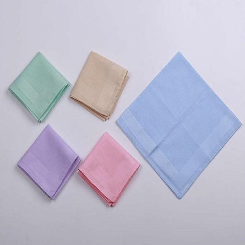 Free Shipping 12pcs 40cm * 40cm Candy Color Handkerchief Cotton Handkerchief Ms. Men