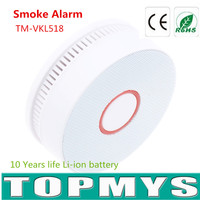 Indoor Smoke Alarm TM VKL518 With 10 Years Lifetime Lithium Ion Battery Smoke Detector Give LED