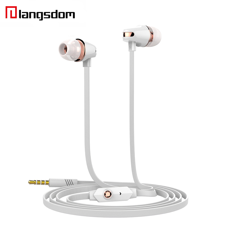 Langsdom JM23  In-Ear Earphone 3.5MM Noodles Wired Earphone For Computer MP3 MP4 Universal Earbuds For iPhone Samsung Xiaomi original xiaomi hybrid earphone 1more mi headphones headset 2 unit in ear circle iron mixed piston 4 for iphone samsung lg htc