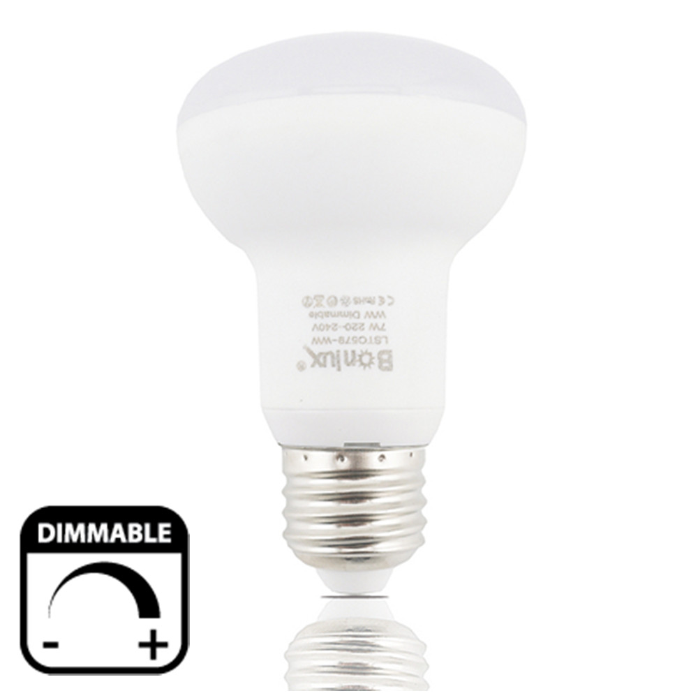 Dimmable R63 <font><b>LED</b></font> Light Bulb 7W Medium Screw Base E26/<font><b>E27</b></font> Reflectore Light 220V <font><b>LED</b></font> R63 <font><b>Umbrella</b></font> Bulbs 60W Halogen Replacement