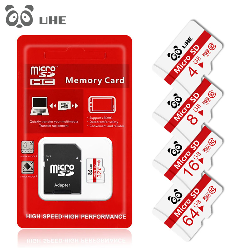 2019 New Fashion Micro SD 32GB Memory Card 64GB Tf Carte 16GB 8GB 4GB Microsd With Adapter Free Shipping
