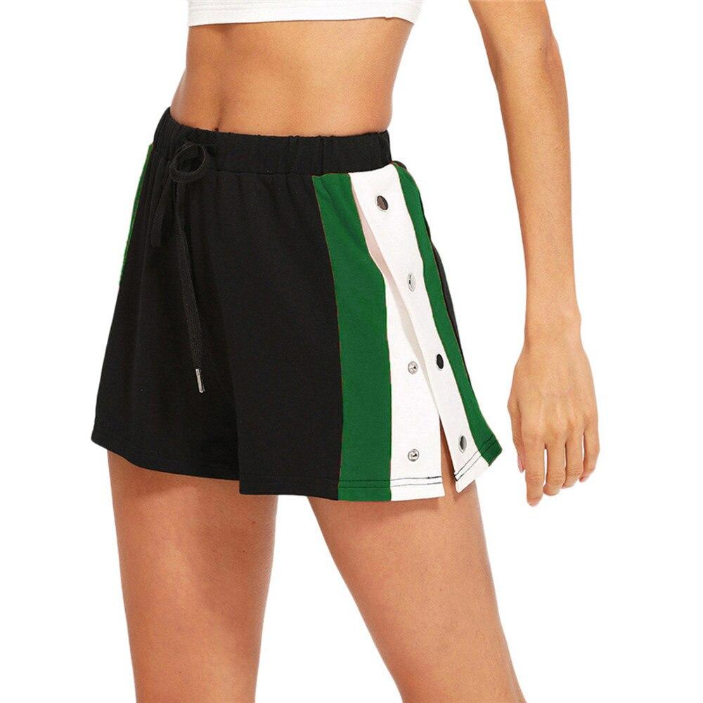 2019 Summer Road Shorts Women Elastic Waist Short Women All-match Loose Solid Soft Cotton Casual Short Femme Black Szorty Damsk