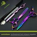"""6 """"professional hair cutting shears set japonês barbor sissors cabelo navalha de corte de cabelo tesoura de cabeleireiro tesoura franja corte"""
