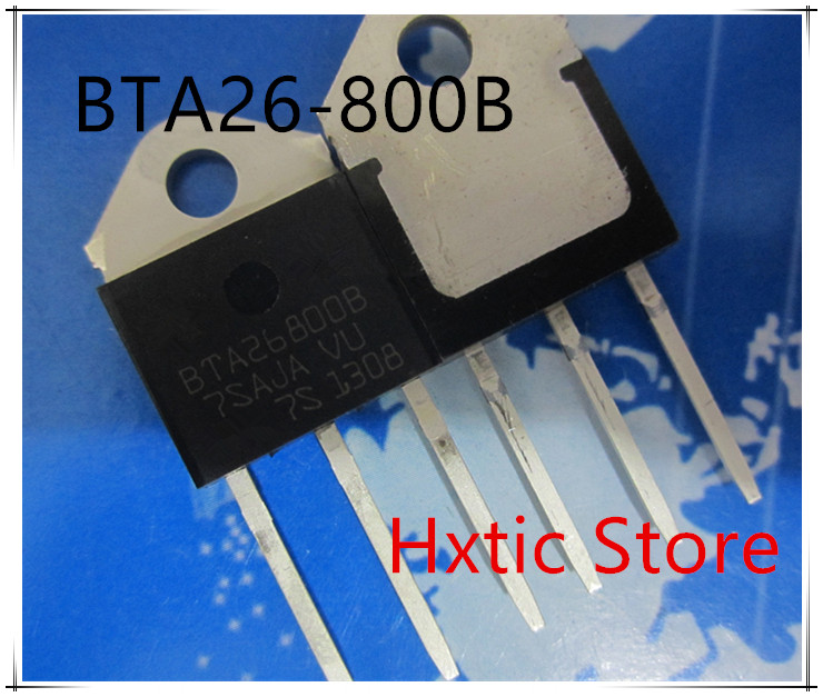 5pcs BTA26 800B BTA26800B BTA26 800 BTA26 800B Triacs 25 Amp 800 Volt TO 3P new