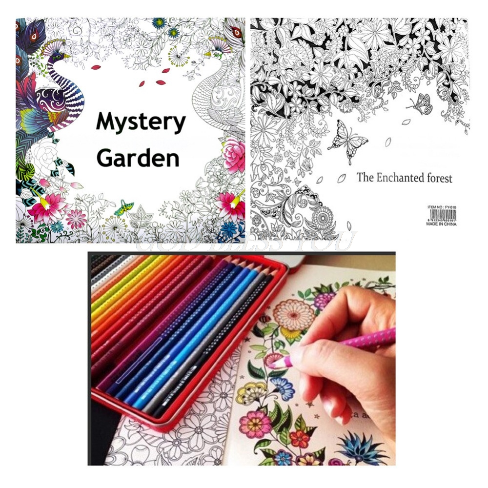 English Adult Secret Garden Mystery Garden Treasure Hunt Coloring Painting Book Coloring Book