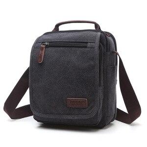 Image 5 - Z.L.D. Новая вертикальная холщовая школьная сумка, мессенджер высокого качества, военная сумка на плечо, вместительная маленькая квадратная сумочка