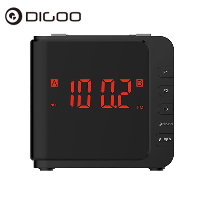 Digoo Dg-cr7 Cr7 Digital Led Ampio Display Alarm Clock Usb Radio Am/fm Doppio Allarme Con Snooze 11.93 Cm X 10.41 Cm X 10.92 Cm Giada Bianca
