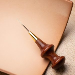 Image 2 - Junetree Stitching Awl with Conical Shape Blade cutter cutting leather cut with good wooden handle professional leather craft