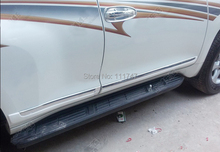 Car-styling!Chrome Pearl White Side Door Body Molding Trim Cover For Toyota Prado Land Cruiser 150 FJ150 2014 2015