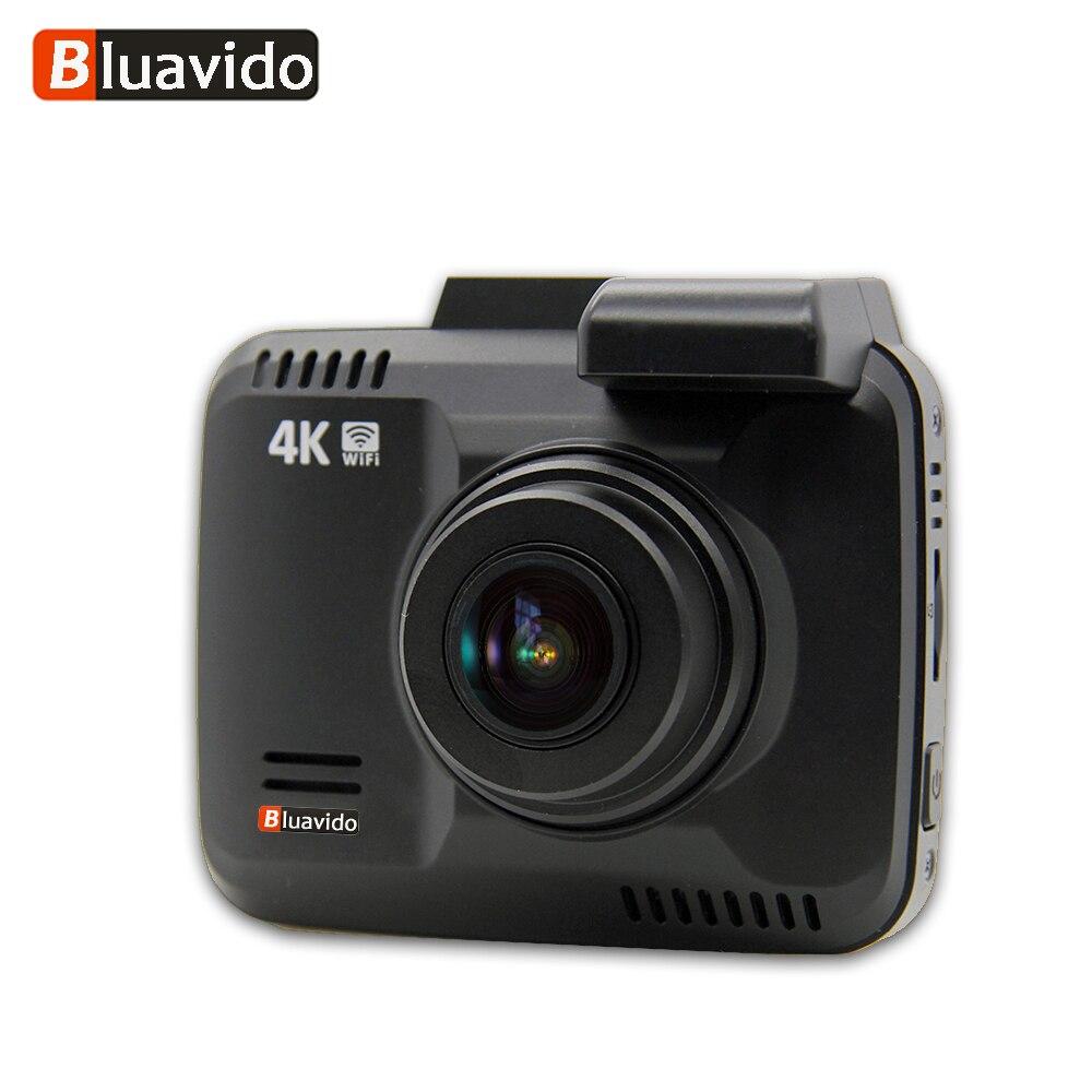 Bluavido 4 К 2160 P UHD регистраторы DVR, gps трекер WDR Ночное видение IMX323 Новатэк 96660 автомобильный Камера видео Регистраторы Wi-Fi 150 градусов