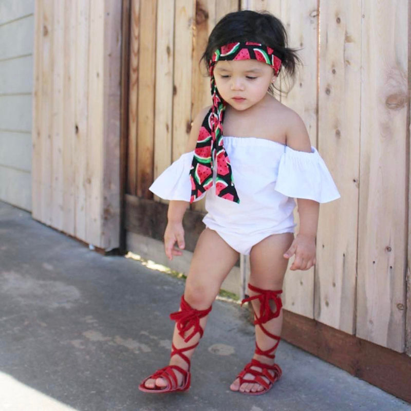 2019 Kids Gladiator Sandals Toddler Baby Sandals Soft Flat Children Shoes Summer Boots High-top Fashion Roman Girls Sandals