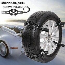 NoEnName_Null 1 pieza de invierno camión coche cadena de nieve neumático negro cinturón antideslizante Fácil instalación Simple 2017