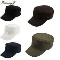 Wholesale 10pcs fashionable Style 56 58cm New Classic Plain Vintage Hat Adjustable Army Cadet Style Cotton Cap