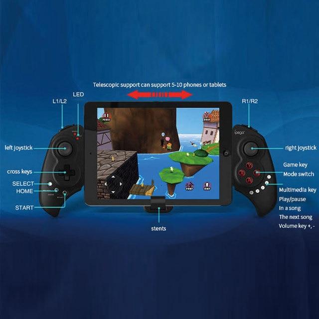 IPEGA PG 9023 Telescopic Gamepad Wireless Bluetooth Joystick Controller For Android IOS iphone 7 ipad 4