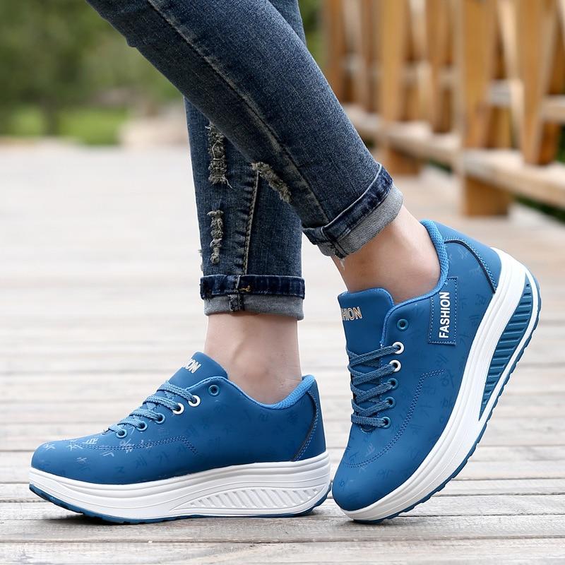 PU Γυναικεία Γυναικεία Τόνωση - Πάνινα παπούτσια - Φωτογραφία 5