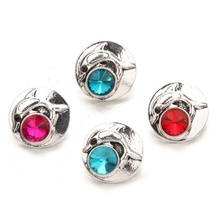 4 Colors Ocean Dolphin Shape Snap Jewelry Colorful Crystal Vintage Snap Buttons Jewelry 18MM 20MM Snaps Bracelet Accessories
