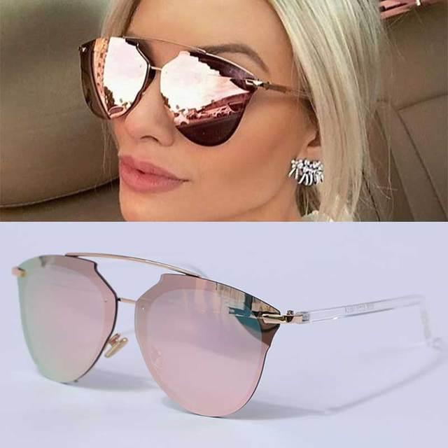 CCSPACE Personalidade Mulheres Marca Óculos de Sol Da Moda Sem Aro Do Vintage  Colorido Espelhos Eyewear 08bfcfa63f
