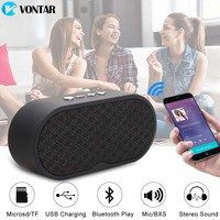 VONTAR F3 Portable Bluetooth Speaker Wireless Hands Free Speakers Subwoofer Loudspeakers Audio For Phone With HD