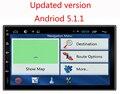 """Universal 7 """"Android 5.1 Jogador Do Carro DVD Quad Core1080P Tela de Navegação GPS Espelho"""