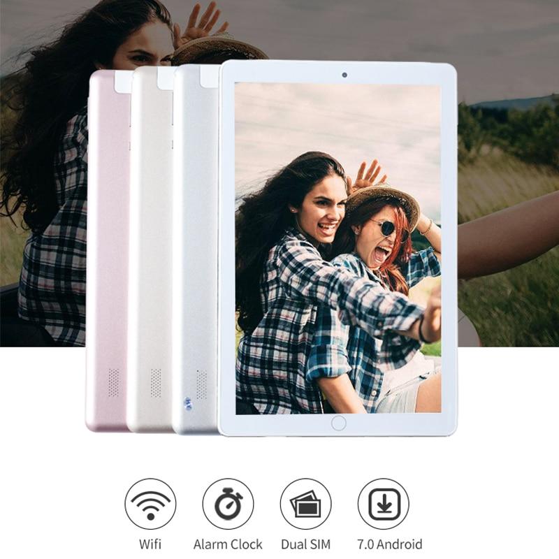 10,2 дюймов Android 7,0 Планшетные ПК 4 ГБ + 64 ГБ Tablette 3g 4glte Телефонный звонок Двойные sim-карты планшеты компьютеры Bluetooth, Wi-Fi IPS1920x1280